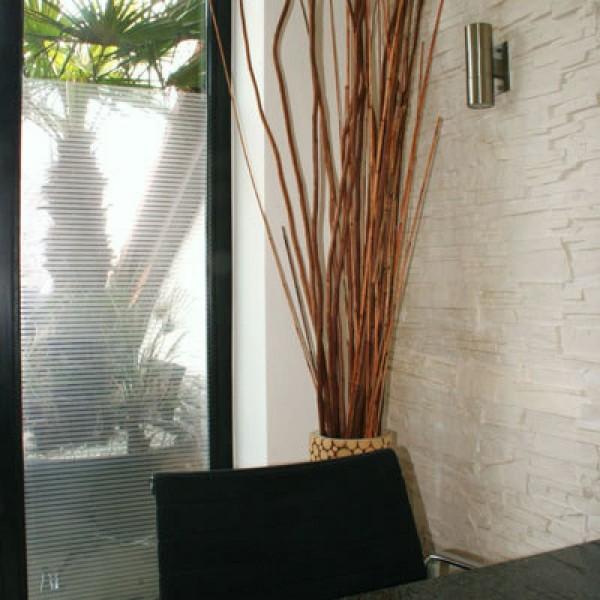 Glasdekorfolie Blickschutz Streifen silber glänzend 10 mm