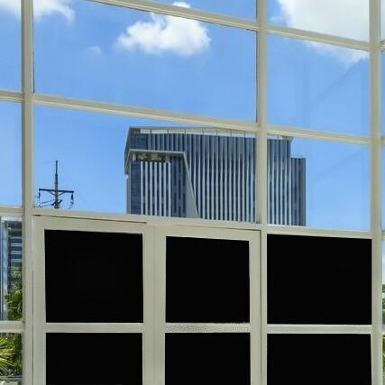 Verdunkelungsfolie Fenster schwarz innen