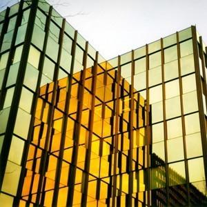 Innen Sonnenschutzfolie Fenster Gold verspiegelt