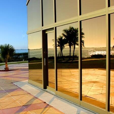 Sonnenschutzfolie Fenster Außen Bronze spiegelnd