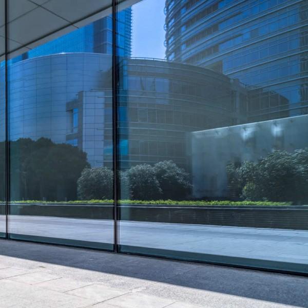 Außen Sonnenschutzfolie Fenster Blau spiegelnd
