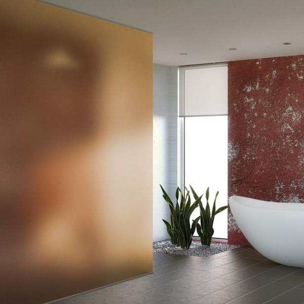 Sichtschutzfolie bronze Milchglas